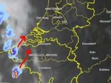 Weersvoorspelling zat ernaast: het hevige onweer trok richting Duitsland