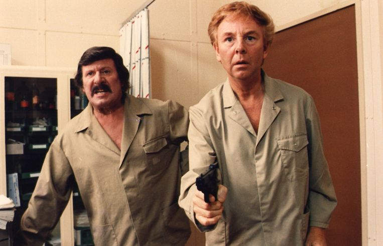 Leo Martin en Gaston Berghmans in 'Zware Jongens'. Beeld rv