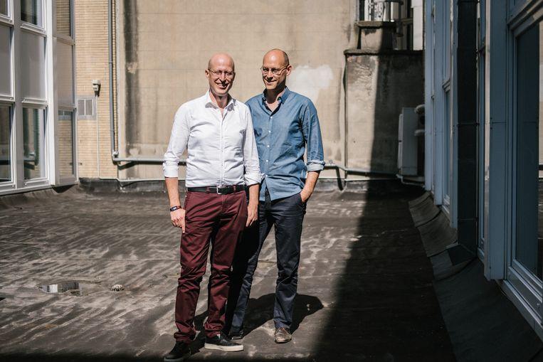 Bert (l.) en Jan Cornillie. Beeld Wouter Van Vooren