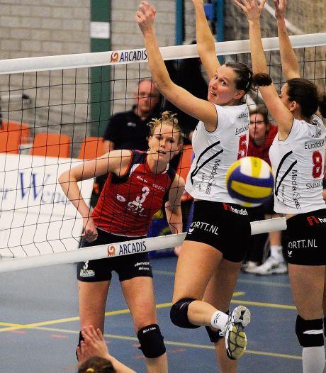 Zussen Eva en Ruth bereikten in de piekjaren met Nesselande de nationale volleybaltop