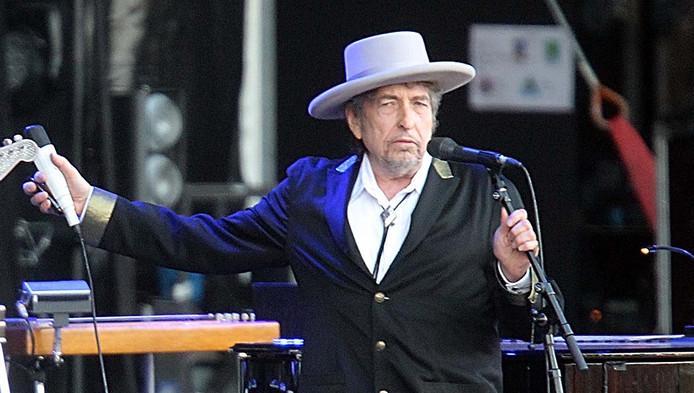 Dylan tijdens een recent concert