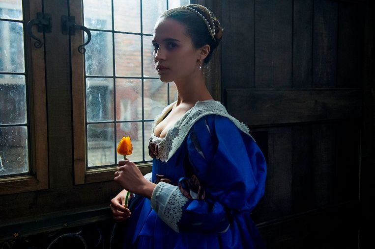Alicia Vikander in 'Tulip Fever'. Beeld RV