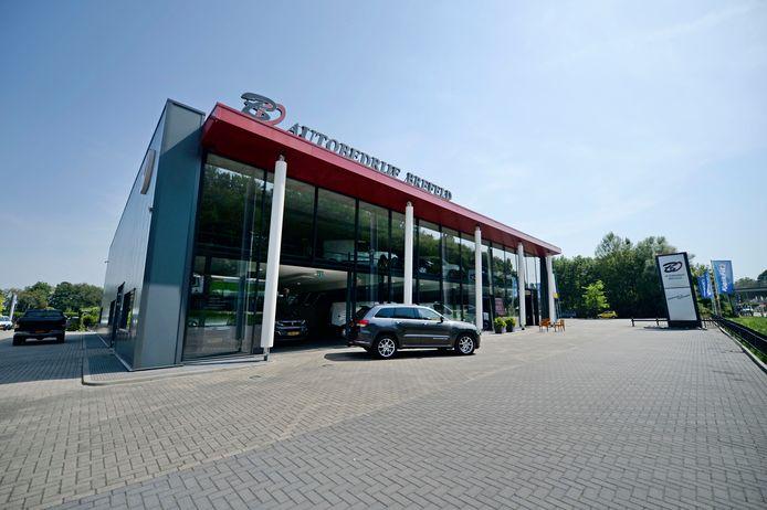 Het autobedrijf van John Brefeld op het Euregio Bedrijvenpark.