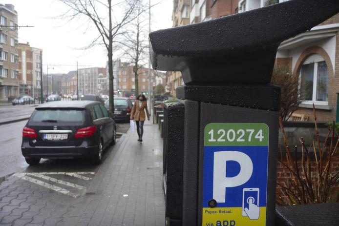 Nieuwe parkeermeters inSint-Jans-Molenbeek.