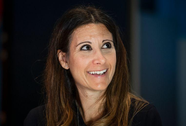 Maria Van Kerkhove tijdens een persconferentie van de WHO Beeld Richard Juilliart / AFP