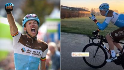 """Oliver Naesen na zijn zotte trainingstocht van 350 kilometer: """"Zadelpijn? Ik heb een stalen kont"""""""