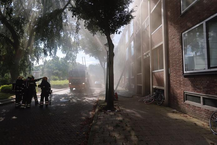 De brandweer had de brand snel onder controle