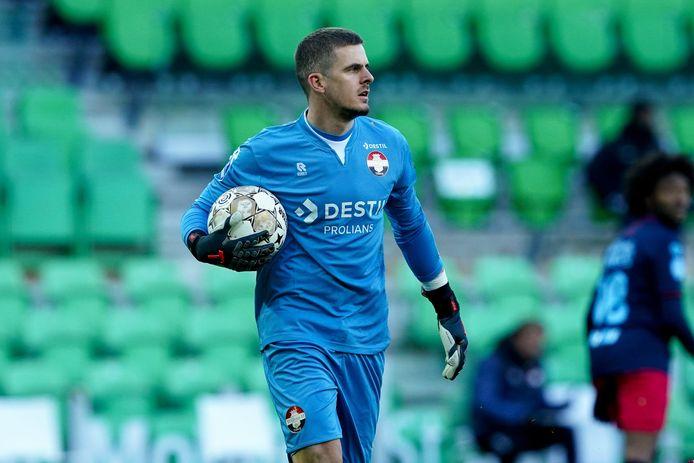 Wetteraar Jorn Brondeel, hier aan het werk tegen Groningen vorig weekend, vond bij Willem II zijn voetbalplezier terug.