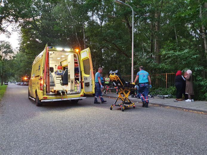 Een wielrenner raakte gewond bij een ongeluk op de Vossendijk
