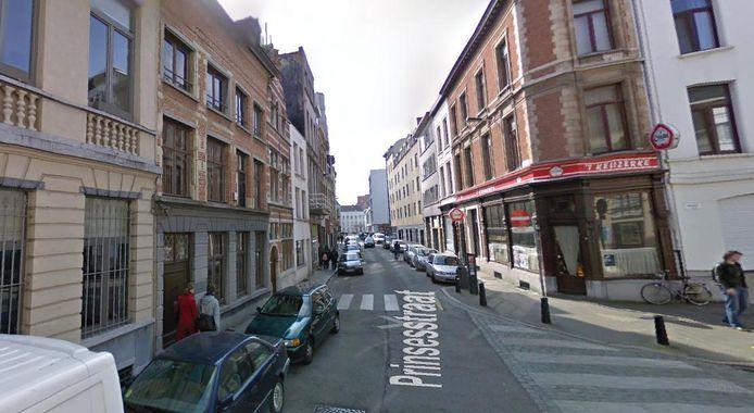 De dief werd opgepakt in de Prinsesstraat.