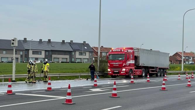 Slachtafval belandt op weg na plots remmanoeuvre aan kruispunt in Pittem