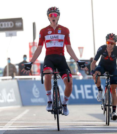 Pogacar verstevigt leidende positie in UAE Tour met ritzege
