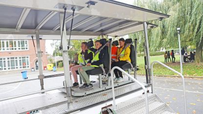 Verkeersweek in Middenschool Vijverbeek: leerlingen ervaren crashtest
