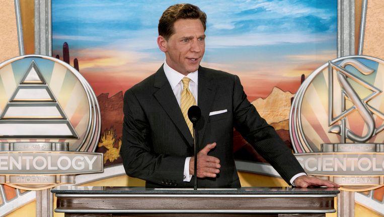 Scientology-leider David Miscavige bij de opening van een nieuw gebouw in de Amerikaanse stad Phoenix. Beeld Scientology Newsroom