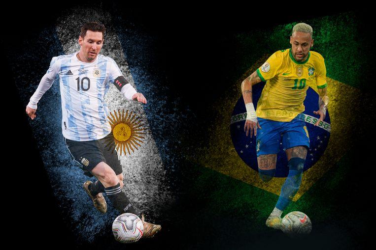Lionel Messi en Neymar. Beeld rv