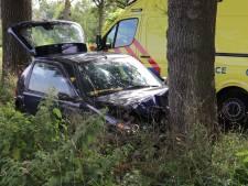 Auto knalt op een boom in Scherpenzeel: twee gewonden
