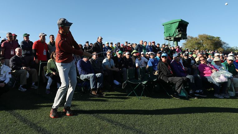 Thomas Pieters is bijzonder sterk bezig op een van de meest prestigieuze golftoernooien van het jaar. Beeld EPA