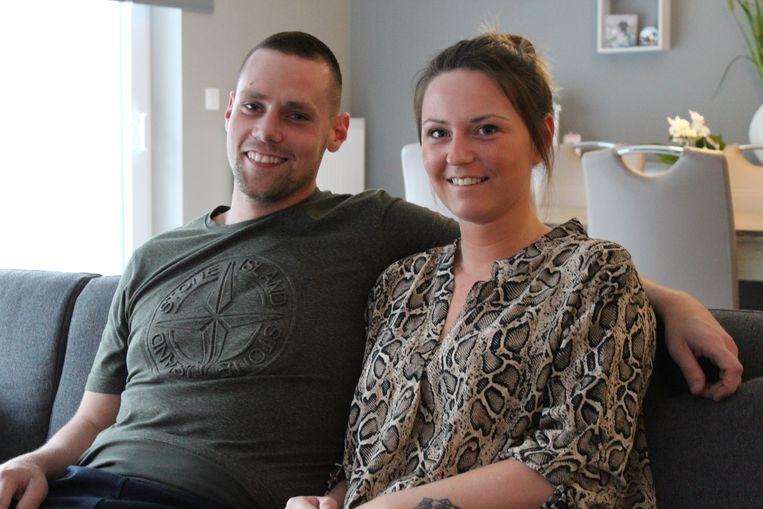 Kay Dobbelaer en zijn partner Janice Laroy.