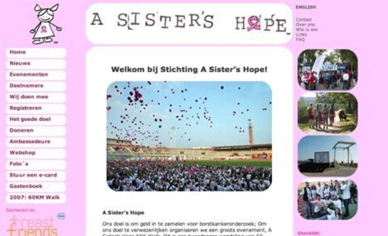 Website asistershope.org Beeld