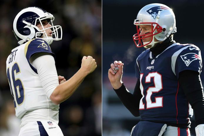 Jared Goff (Los Angeles Rams) en Tom Brady (New England Patriots).