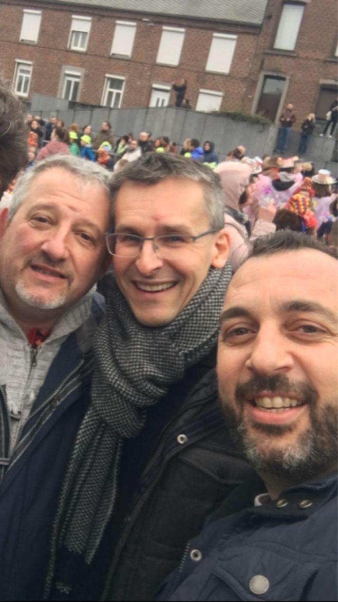 De gauche à droite, trois des contestataires du PS d'Anderlues: Rudy Zanola, Michaël Guyot, Guglielmo Pastorelli
