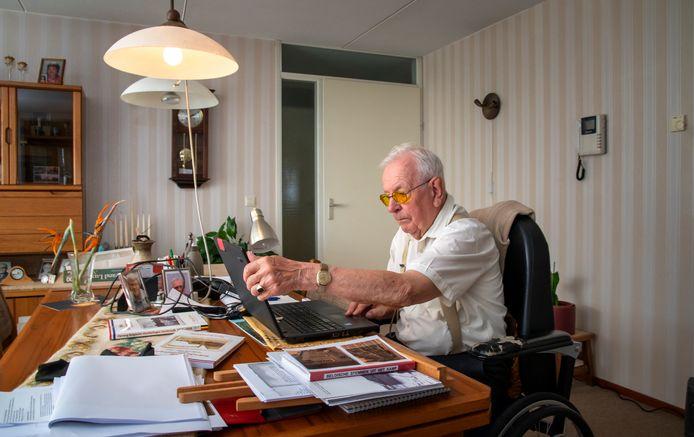 Wim Buitenhuis aan het werk.