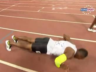 Botswaan heeft na 400m nog energie om uit te pakken met push-ups