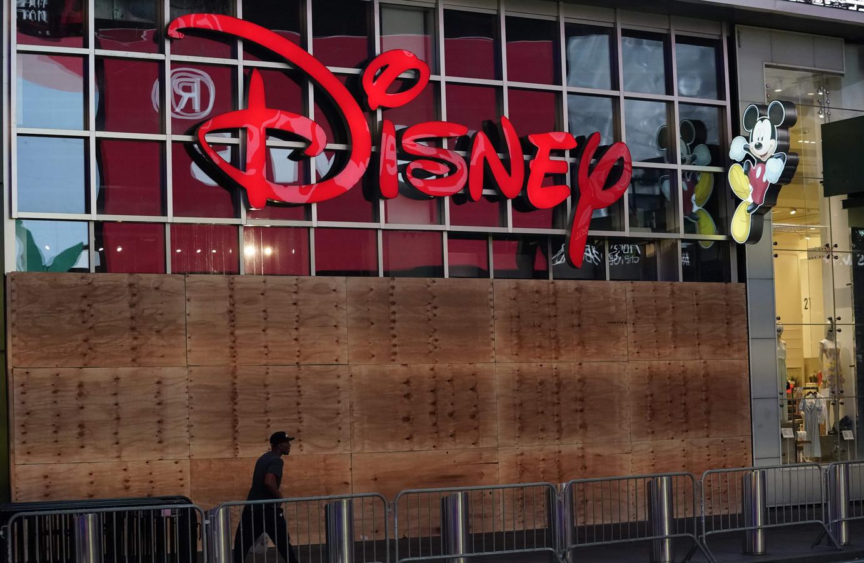 De Disney Store in New York tijdens protesten tegen racistisch politiegeweld.