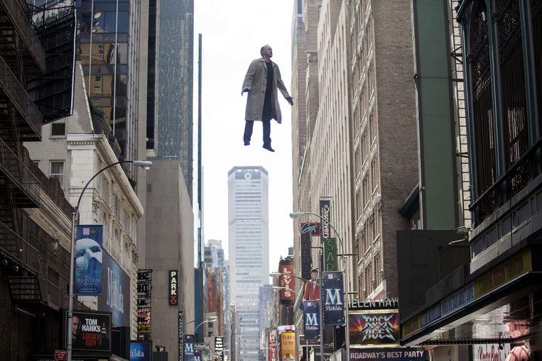 Michael Keaton in 'Birdman', een film met een ronduit geniale beeldtaal. Beeld rv