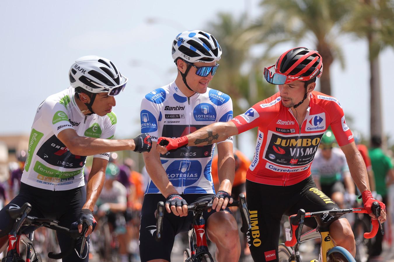 Primoz Roglic won dit jaar voor de derde opeenvolgende keer de Ronde van Spanje.