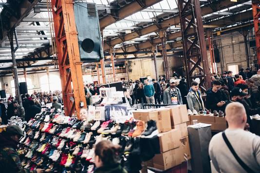 Zo'n 4500 vierkante meter aan sneakers: de laatste editie van Deadstock in de Wagenmakerij.
