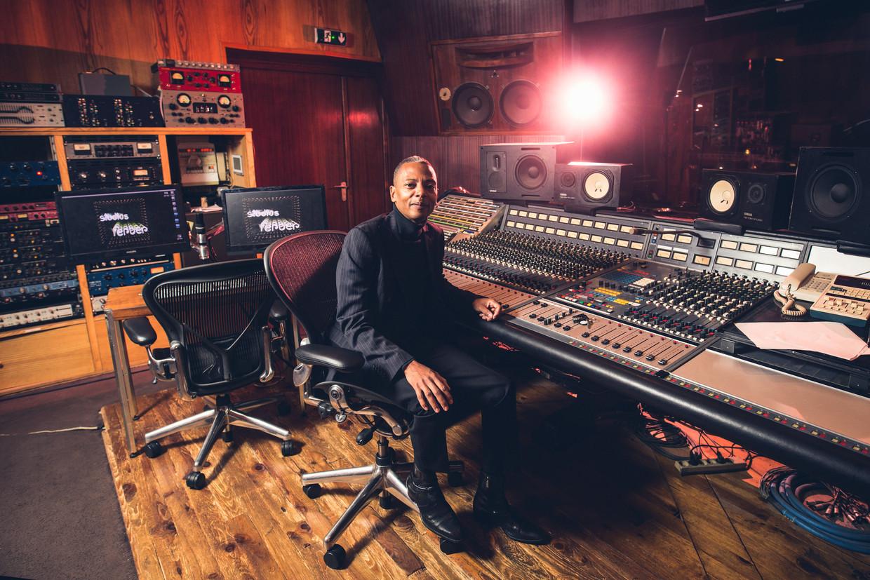 Jeff Mills in Studio Ferber in Parijs enkele jaren terug. Beeld Future Music Magazine/Future via