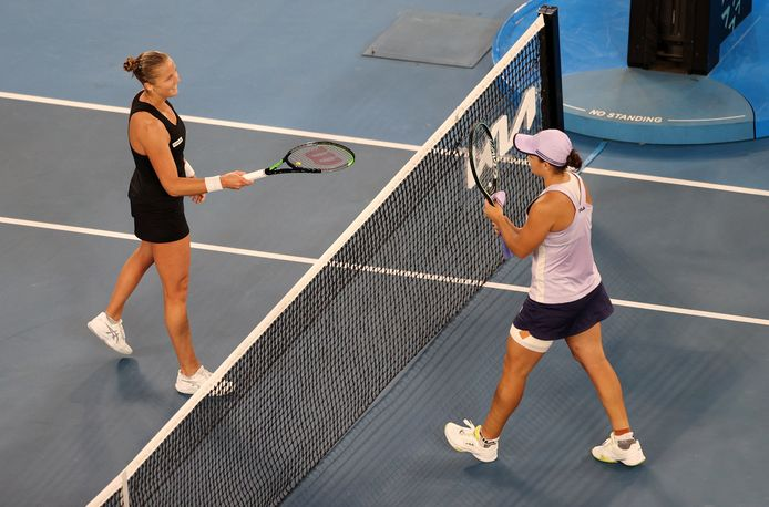 Ashleigh Barty kende weinig problemen met Shelby Rogers.