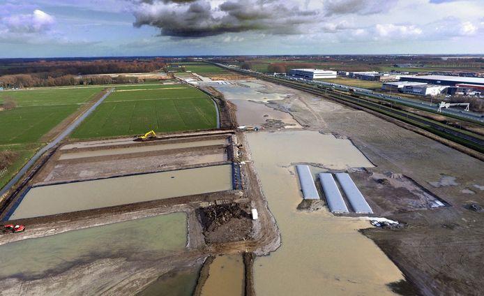 Het terrein in Spijk, op een luchtfoto van begin dit jaar.
