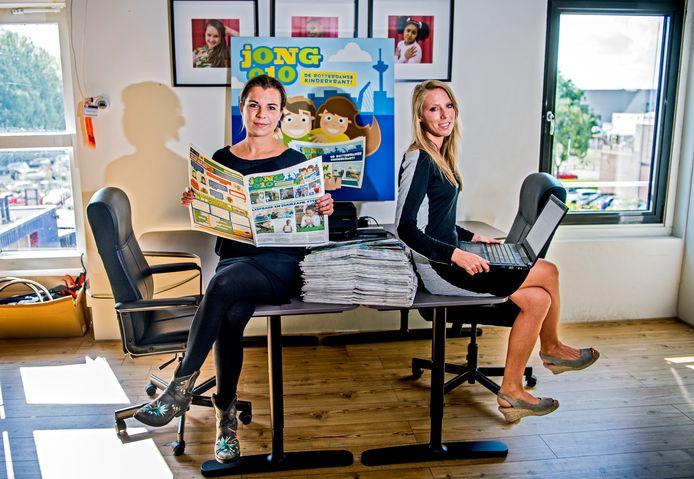 Angelique van Tilburg (links) en Suzanne Huig van Jong 010 willen dat hun kinderkrant overal navolging krijgt.