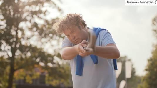 Dirk Zeelenberg in een reclame van TopParken