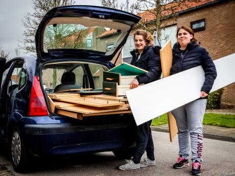 Complete bedkast past 'gewoon' in C3 van Claudia en Rosanne: 'Zie je, wij hebben geen man nodig'