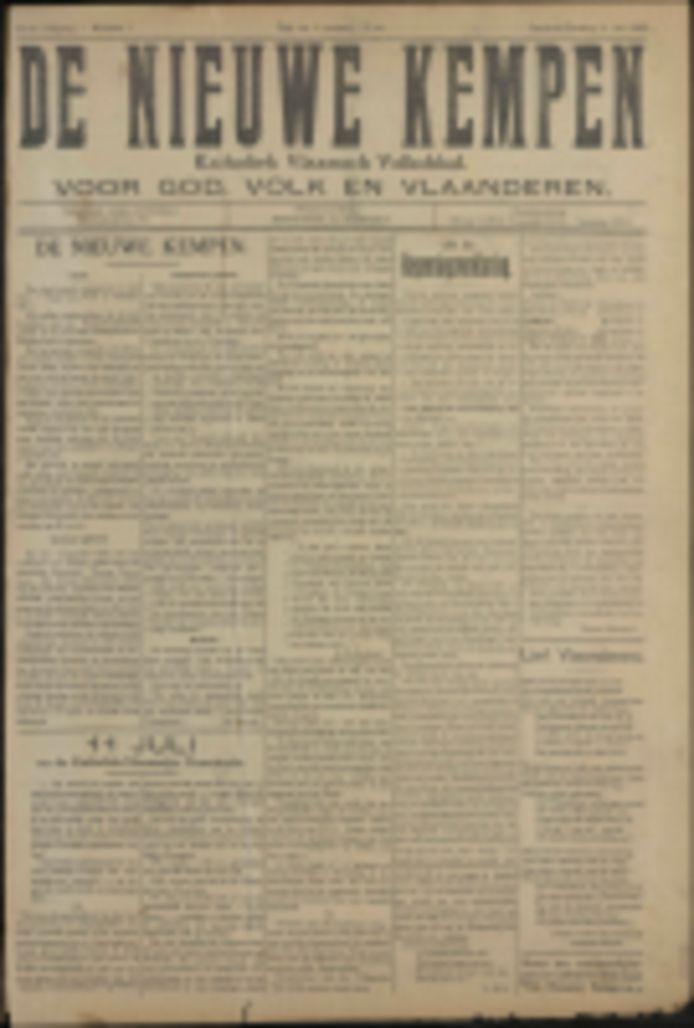 Op de website kan je naar hartelust snuffelen in oude Kempense kranten