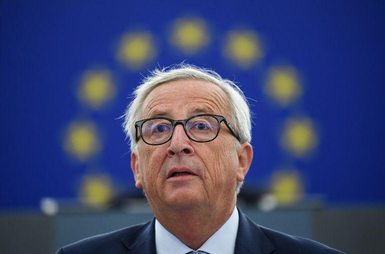 Voorzitter Jean-Claude Juncker van de Europese Commissie. Beeld EPA