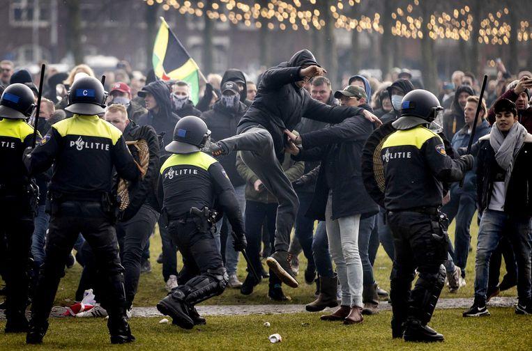 De 36-jarige man uit Almere heeft zich zelf gemeld bij de politie.  Beeld ANP