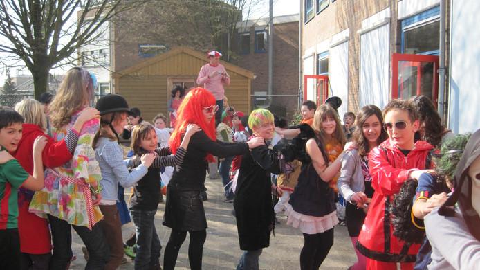 Verkleedfeest op de Daltonschool in Rhenen.