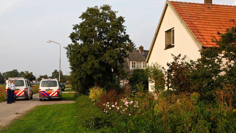 Het huis in Millingen aan de Rijn waar de 59-jarige rechercheur van het korps Gelderland-Zuid in Kekerdom dood werd aangetroffen. Beeld ANP