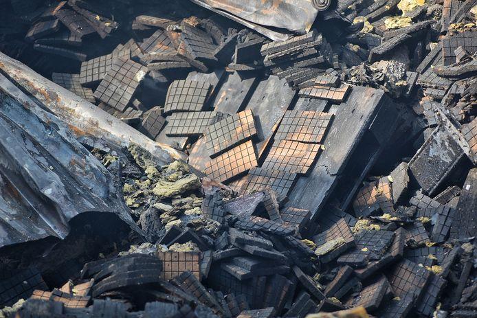 Ook de restanten van de opgeslagen aanmaakblokjes zijn goed te zien.