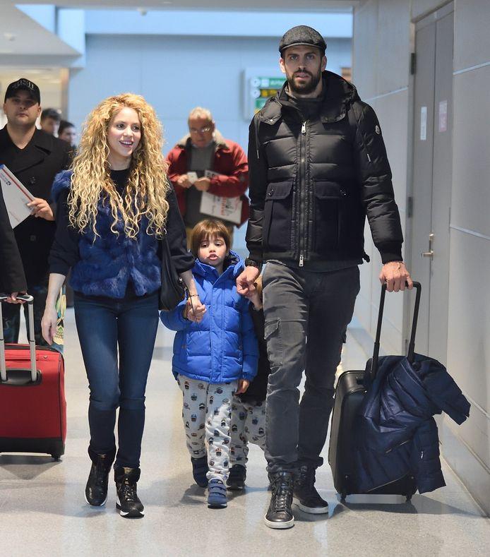 Shakira, Gerard Piqué en de kinderen