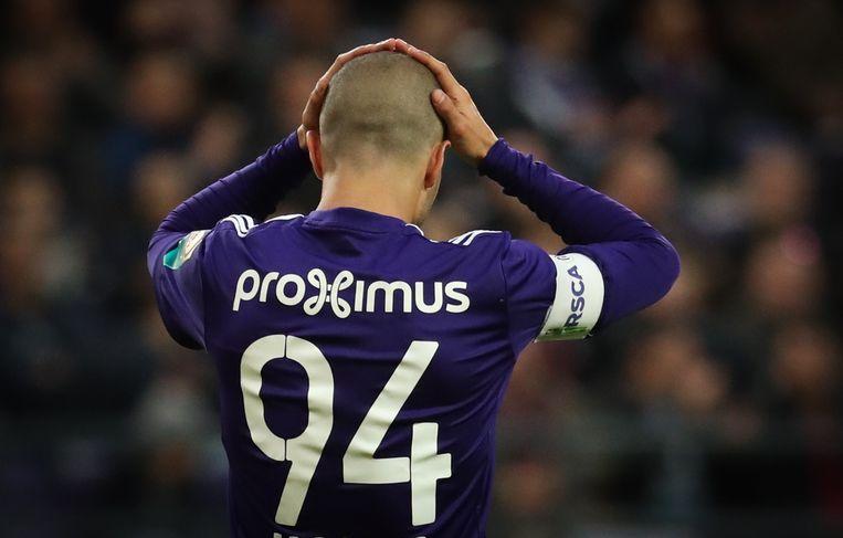 Ook Hanni kon lang geen lijn in het voetbal van Anderlecht krijgen.