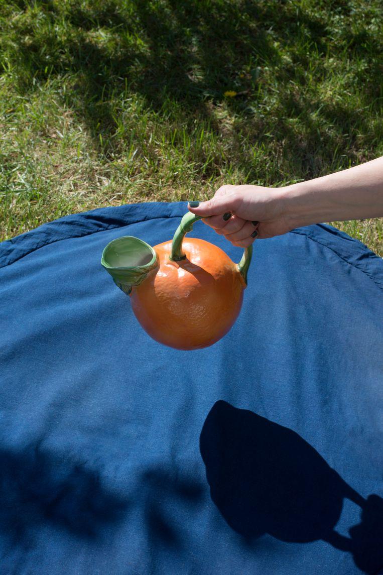 Topstuk: sinaasappelkan (vraagprijs: 7,50 euro). Beeld Annabel Miedema