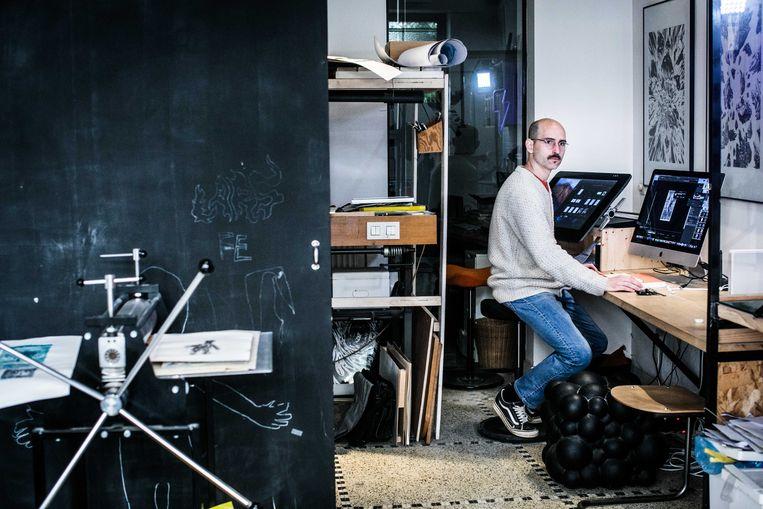 Jansen in zijn studio.  Beeld Bas Bogaerts