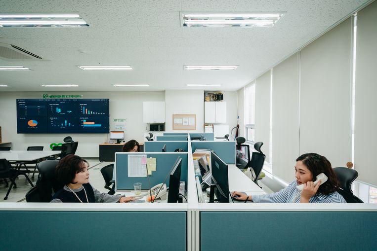 Specialisten op de helpdesk kunnen gebruikers opbellen als zij Aria 24 uur niet hebben gebruikt, of te vaak 'negatieve emoties' tonen. Beeld Jun Michael Park