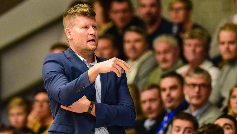 Steve Ibens, coach van Aalstar Beeld Photo News