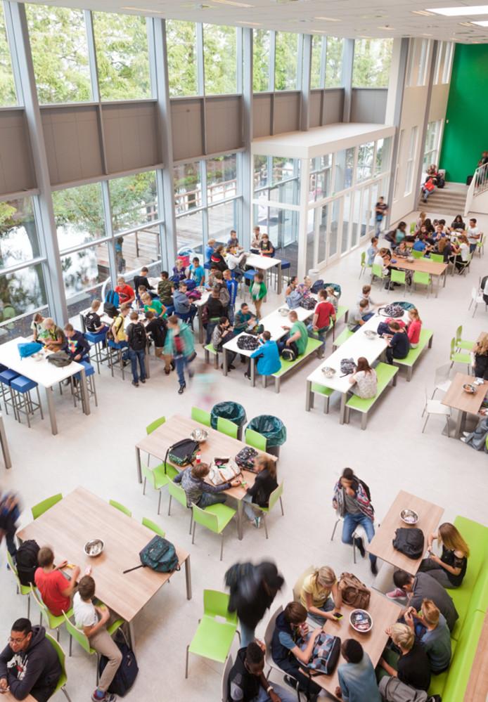 De aula van het Wellantcollege in Boskoop.